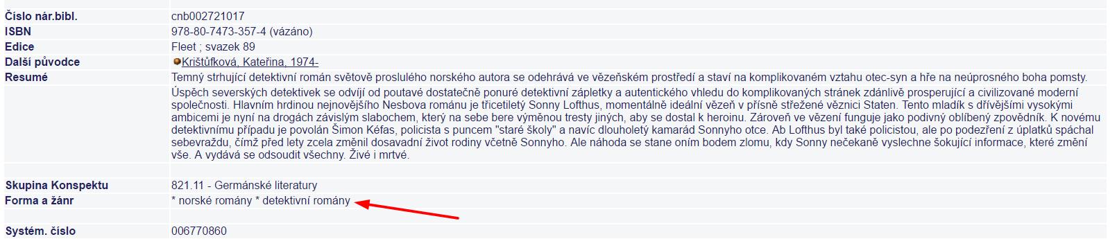 Rešerše v Souborném katalogu ČR