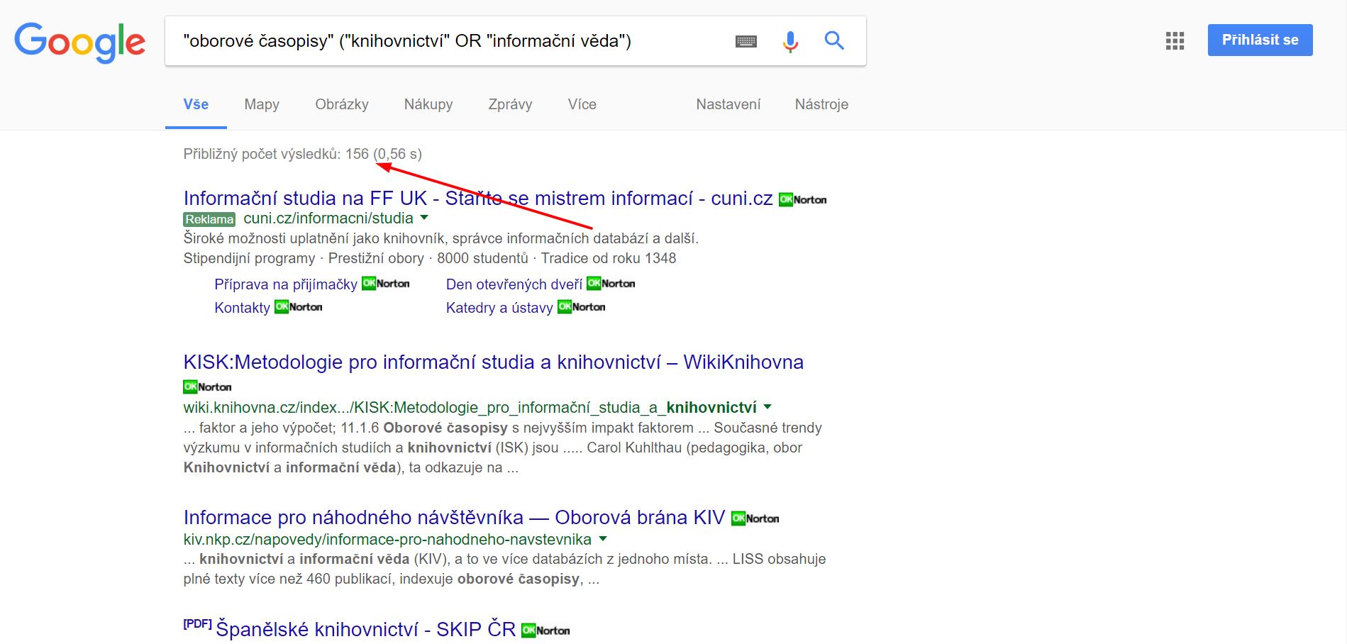 Google vyhledáv