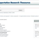 Transportation Research Thesaurus