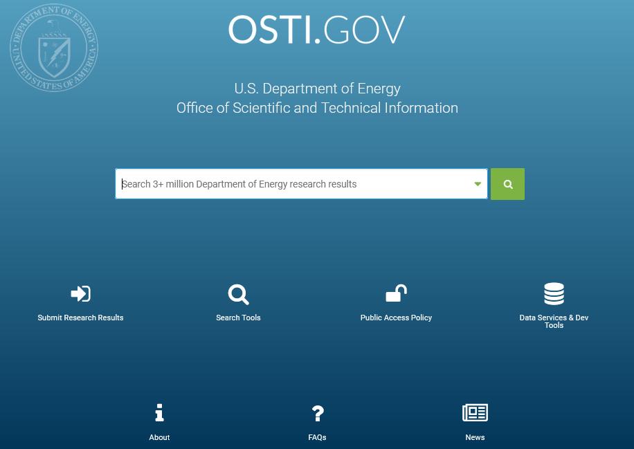 úvodní stránka OSTI.GOV