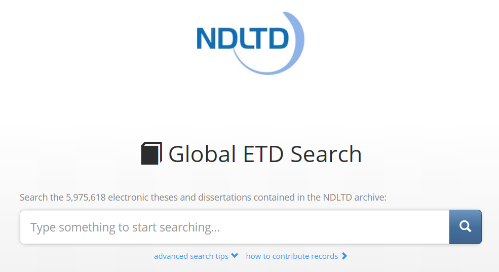 Globálny ETD vyhľadávač organizácie NDLTD