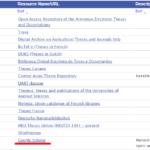 list of web sources