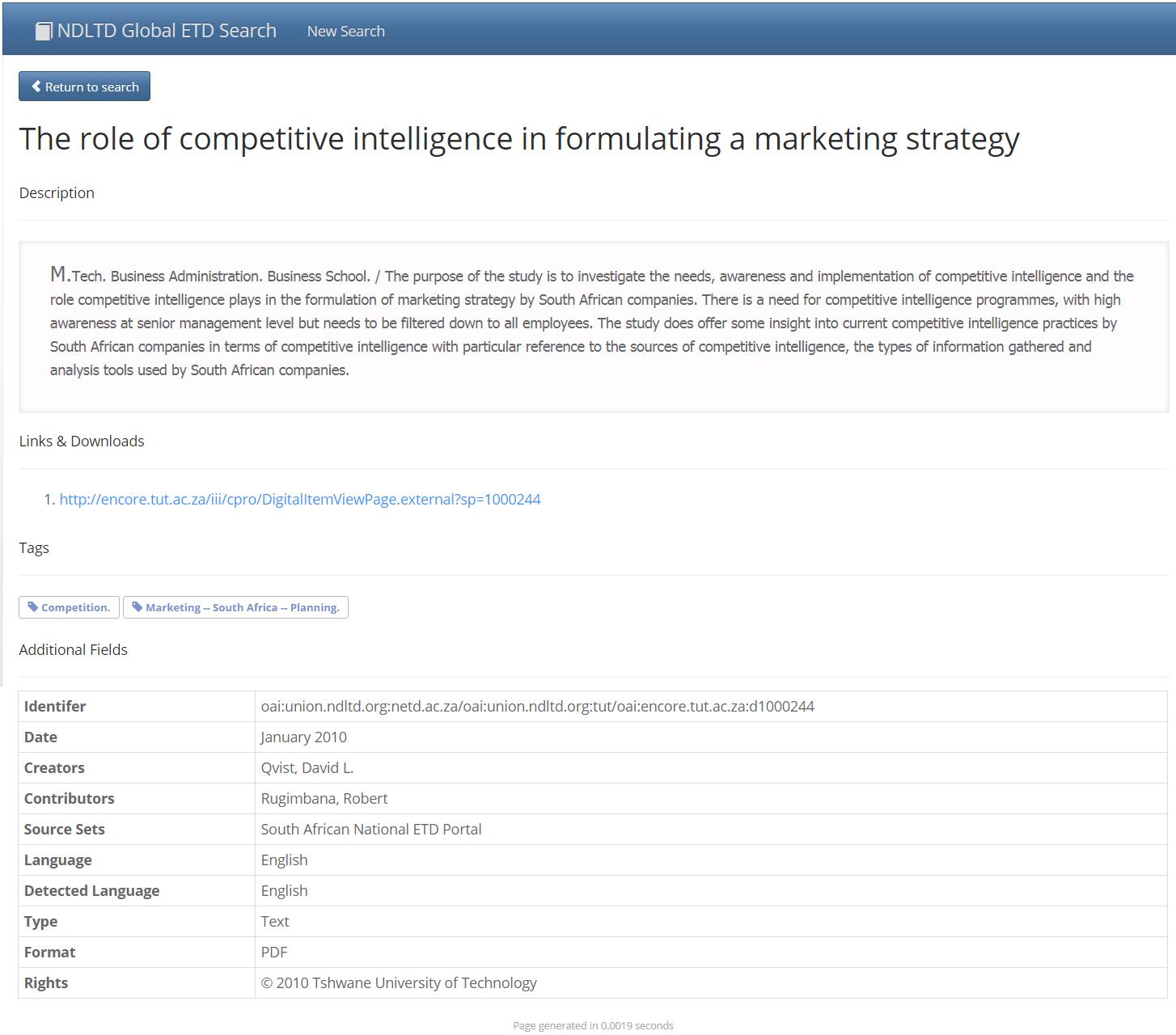 Detailné informácie konkrétnej publikácie z ETD vyhľadávača